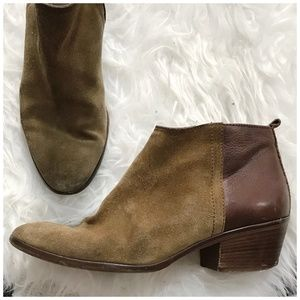 Madewell Suede/leather Charley ankle booties, 10